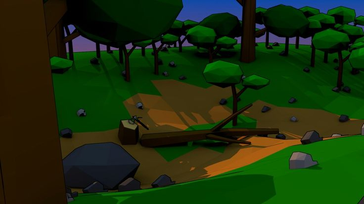 My own forest. Low poly.