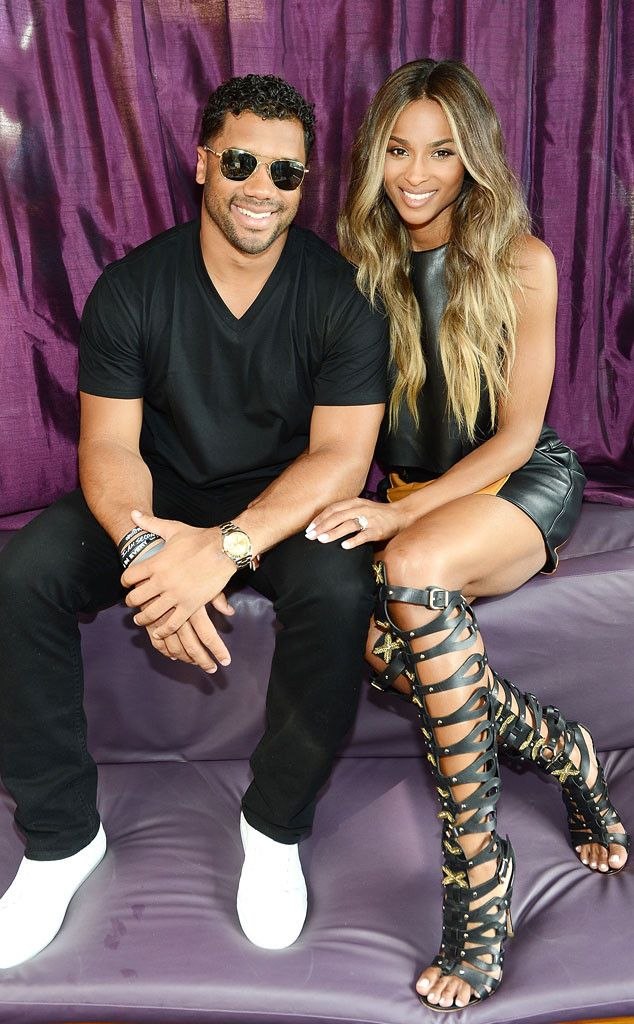 Ciara Flashes Ring as She & Russell Wilson Make First Public Appearance as Engaged Couple | E! Online