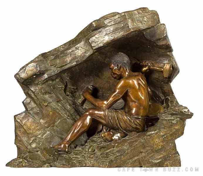 Anton van Wouw, Miner with Hand Drill http://www.capetownbuzz.com/wp-content/uploads/2013/01/lot-480-121129_SF_GR7991-00071.jpg