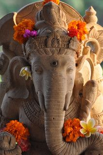 Ganesh, Yoga Barn, Ubud, Bali by The Global Yogi, via Flickr