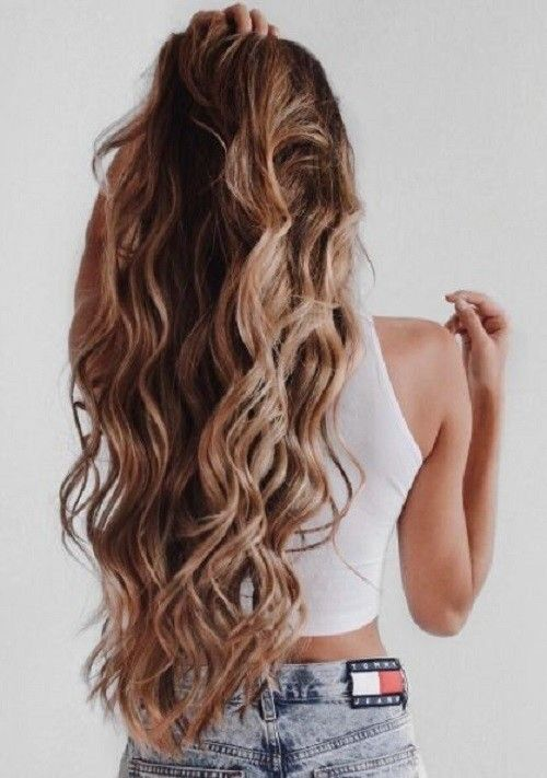 """""""The biggest trend in haircuts is longer hair,"""" says Michael Duenas, consulting celebrity hair stylist for Garnier. """"Short shags seem to be fading, so the ideal lengths are either past your clavicles, or past your bust."""" Image via Pinterest-ShopStyle"""