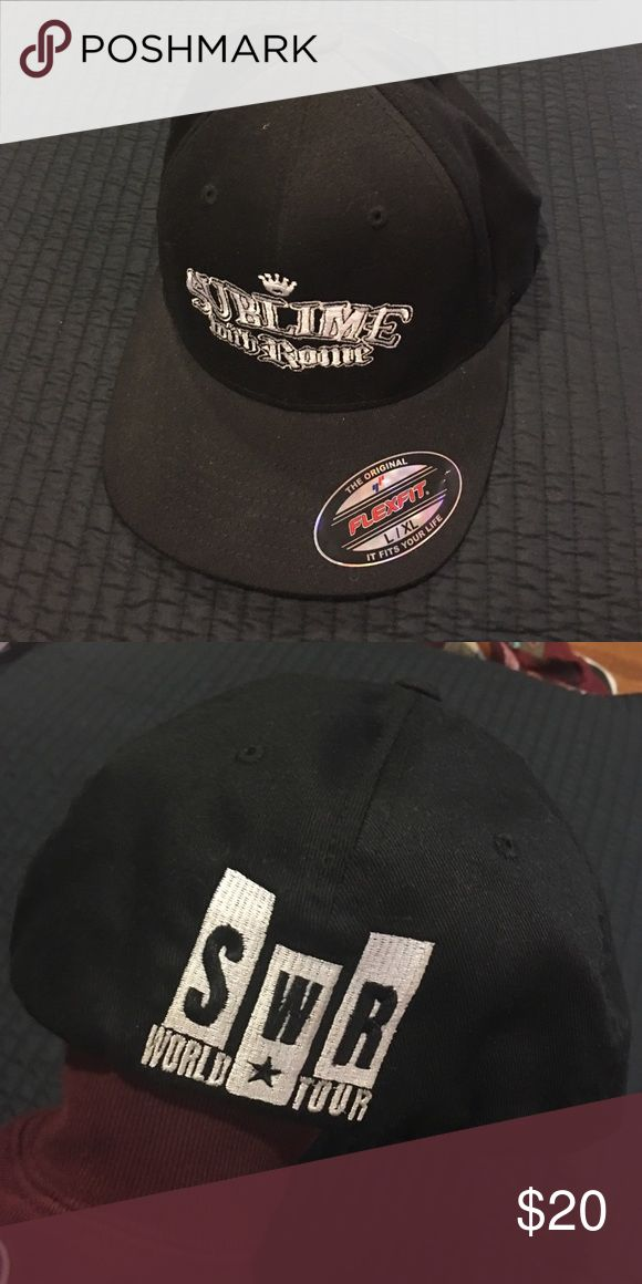 Sublime with Rome hat Black Sublime with Rome tour hat. Worn one time, great condition. FLEXFIT Accessories Hats