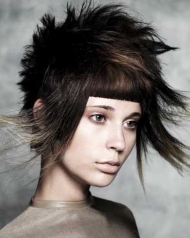 Funky Medium Punk Haircut
