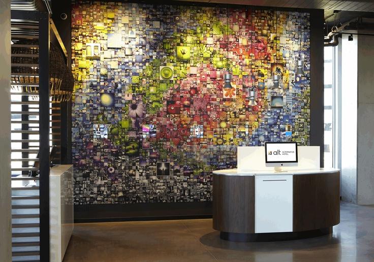 LEMAYMICHAUD | ALT | Toronto | Pearson Airport | Architecture | Design | Hospitality | Art | Lobby | Entrance | Mural | Photography | Art by Sextan |