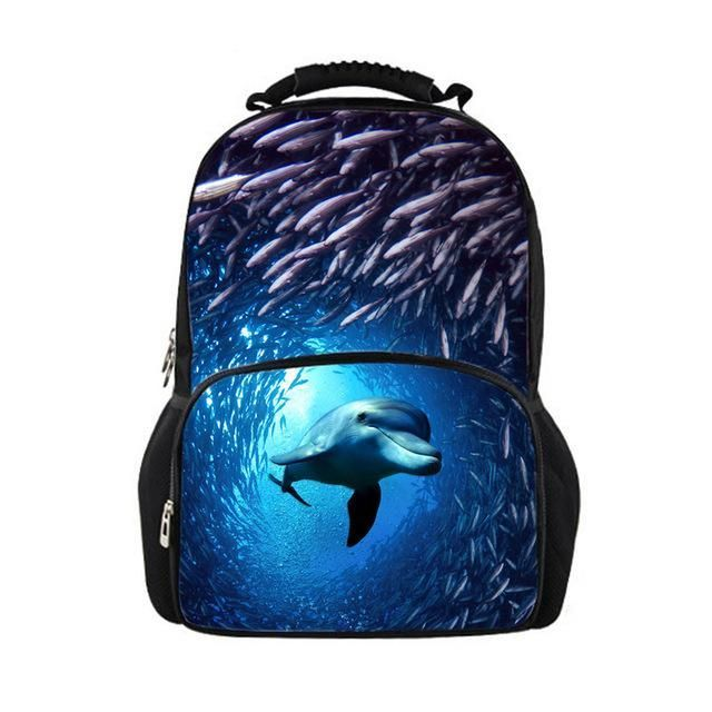 Cool Children School Bags 3D Animal Crazy Horse Print School Bag for Teenagers Boys Girls Cool Kids Schoolbag Book Bags