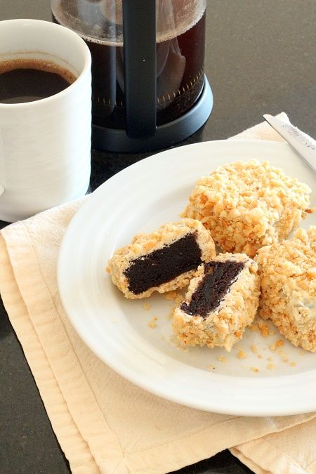 White Chocolate Macadamia Nut Brownie Lamingtons