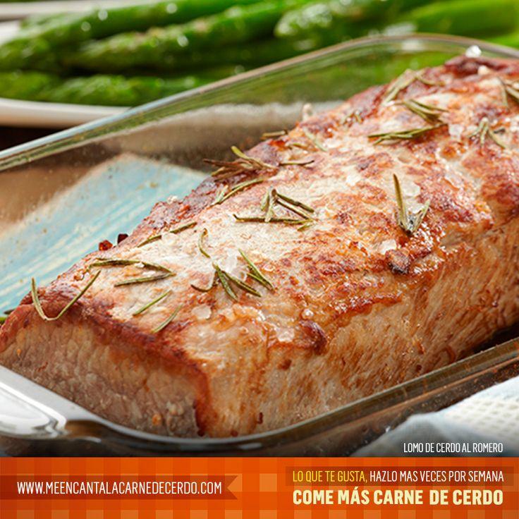 Lomo de cerdo al romero. Tomado de: www.meencantalacarnedecerdo.com