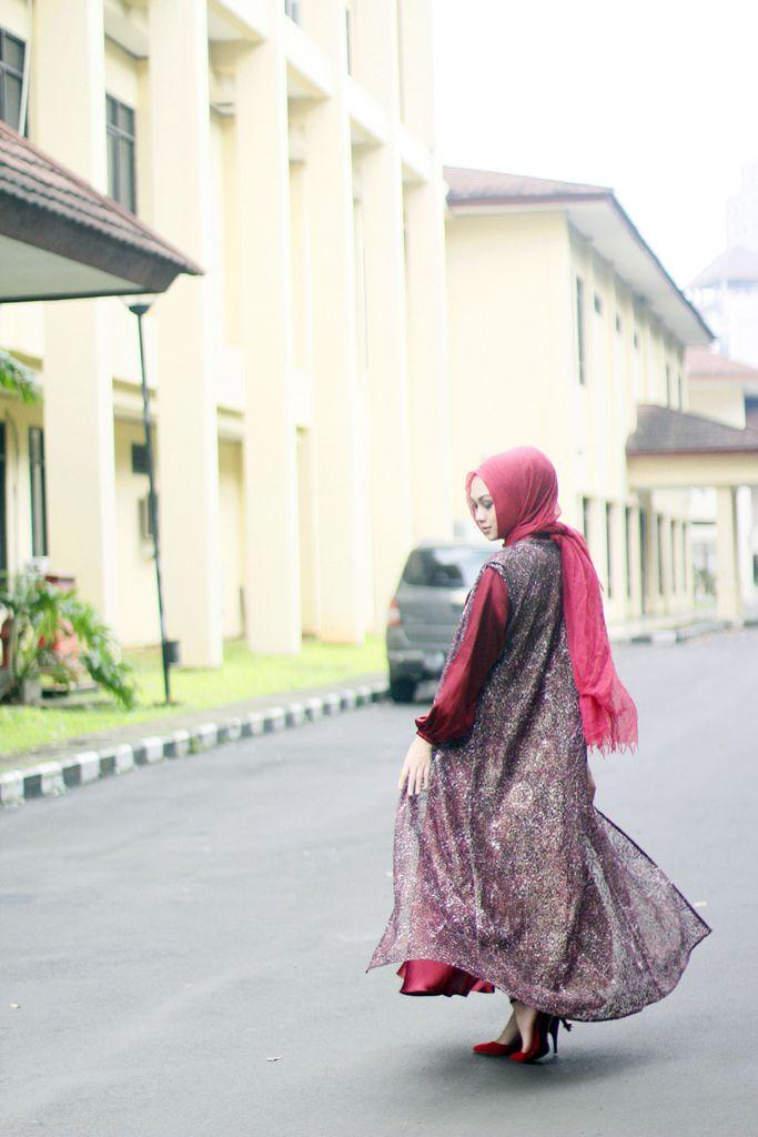 "Indah Nada Puspita "" Red Gown Hijab"""