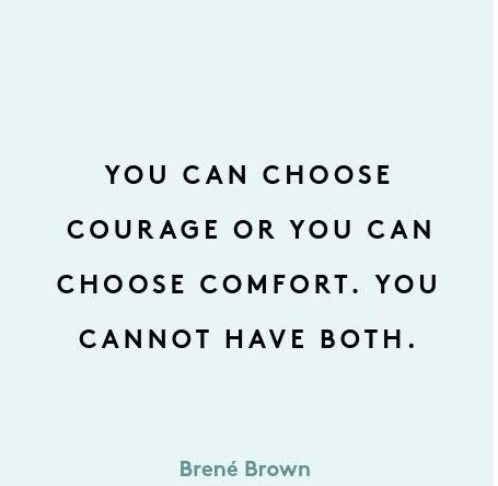 this is so true. it's really easy to get down and feel bad about things or yourself sometimes and that's okay in small doses but if you let it all take over too much it just stifles your courage. and if I've learned anything in my life it's that being brave regardless of the outcome, is one of the best feelings in the world. #choosecourage