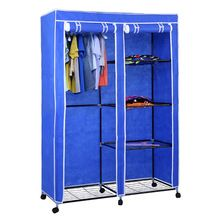RT 125 Design Simple Fabric Portable Standing Movable Rolling Portable  Wardrobe Closets