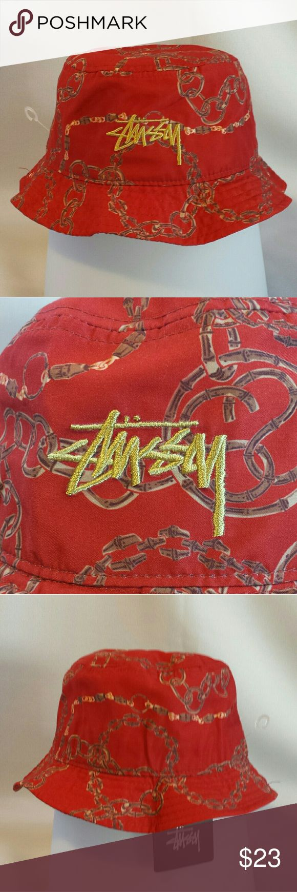 Stussy bucket hat Stussy Bambooze bucket hat. Embroidered gold logo on front. 100% polyester. Just in time for Summer! Stussy Accessories Hats