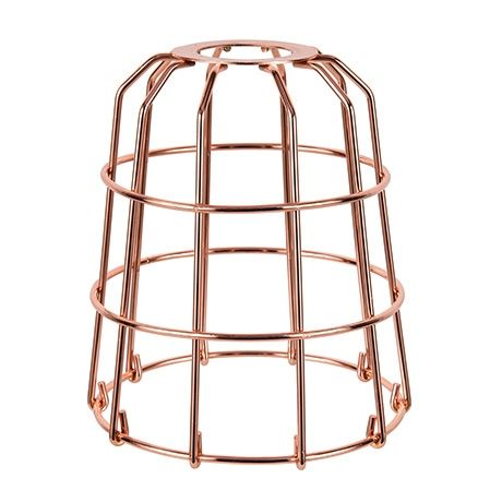 Mix and Match Wire Pendant Shade  Copper Colour