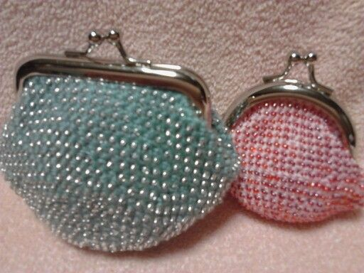がま口財布 beaded coin purse