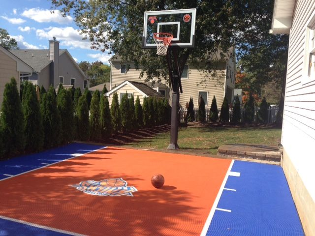 it is nice to have a simple court in a small backyard pro dunk hoops basketball goals. Black Bedroom Furniture Sets. Home Design Ideas