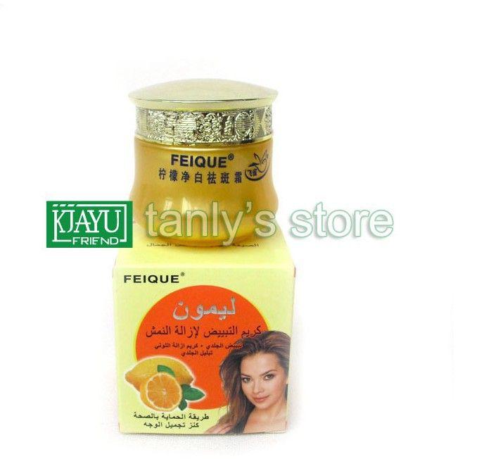 Оптовая продажа FEIQUE лимон осветления 25 г/шт. отбеливание крем для лица 15 шт./лот