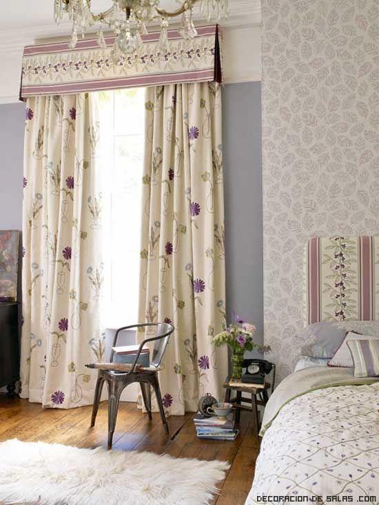 Las 25 mejores ideas sobre dormitorio malva en pinterest for Cortinas estampadas salon