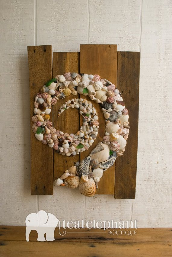 Pallet Art Natural Shell Spiral Wall Hanging by TealElephantBoutique, $195.00  Nautical, One of a kind!