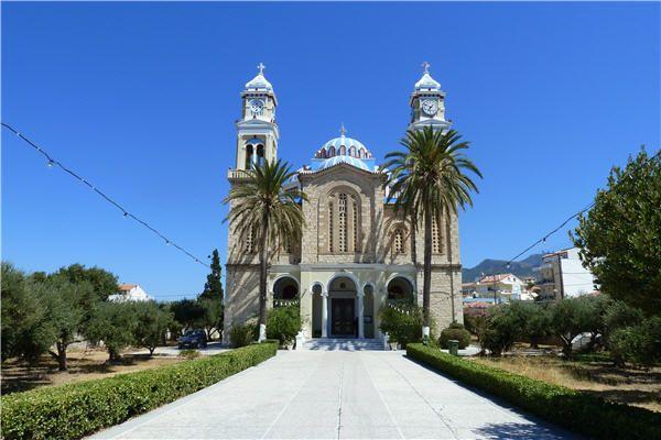 The Church of Agios Nikolaos in Karlovassi, Samos