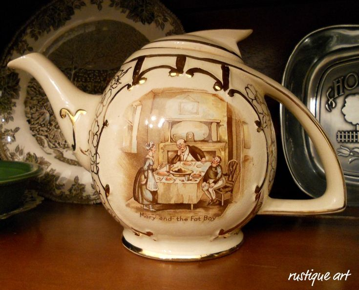 Arthur Wood Teapot / England #4202Vintage Collection, Arthur Wood, Teas Pots, Teas Sets, England 4202, Wood Teapots