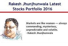 This article is about Rakesh Jhunjhunwala Latest Stocks Portfolio May-2016. Rakesh Jhunjhunwala stocks portfolio 2016 has several good stocks that can be invested during market correction.