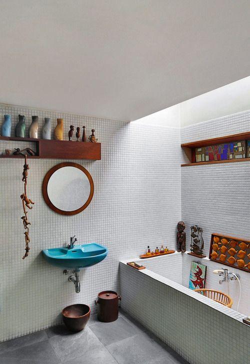 Modernist villa in Belgium--love the basin