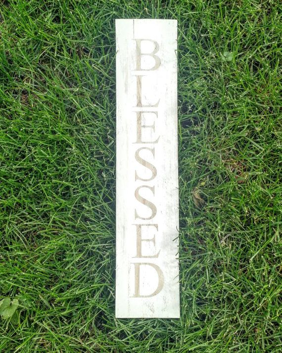 Adorable Joanna Gaines' style Blessed sign!