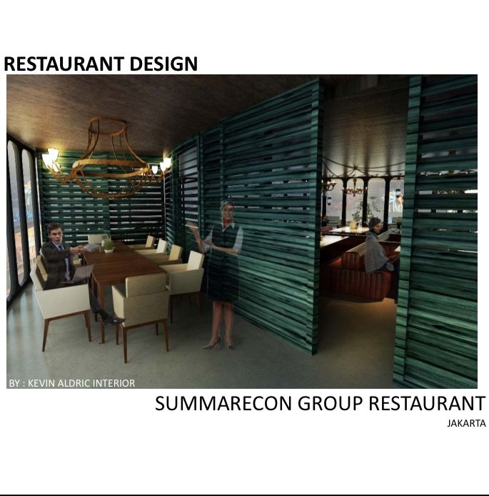 Wine bar and restaurant design designed by Kevin Aldric Interior. client: Summarecon group jakarta La piazza