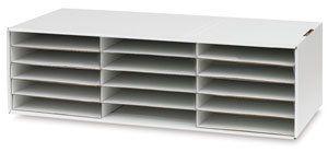 Pacon Construction Paper Storage Unit - 9-3/8 H times; 29-1/4 W times; 12-7/8 D