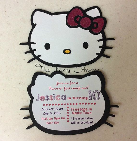 Message me on Facebook if interested in ordering! Hello Kitty Invitations by ThePartyStarterInc https://www.facebook.com/thepartystarterinc