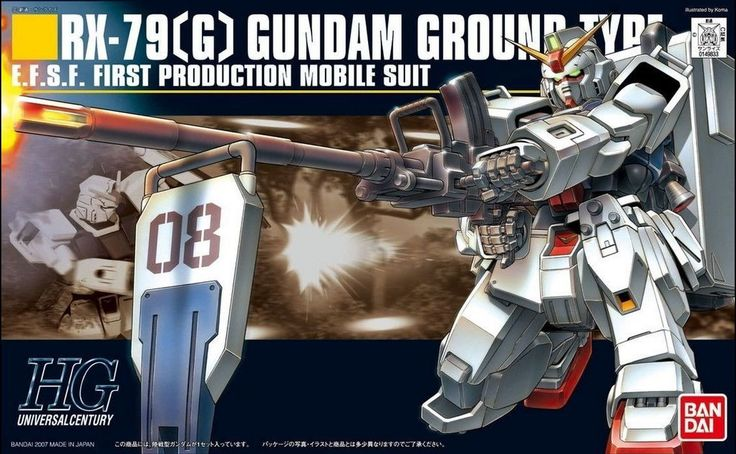 Bandai Hobby #79 RX-79(G) Gundam Ground Type HG 1/144 HGUC Model Kit