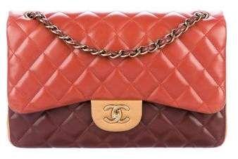 2c40c3179d7d Chanel Paris-Edinburgh Tricolor Jumbo Double Flap Bag