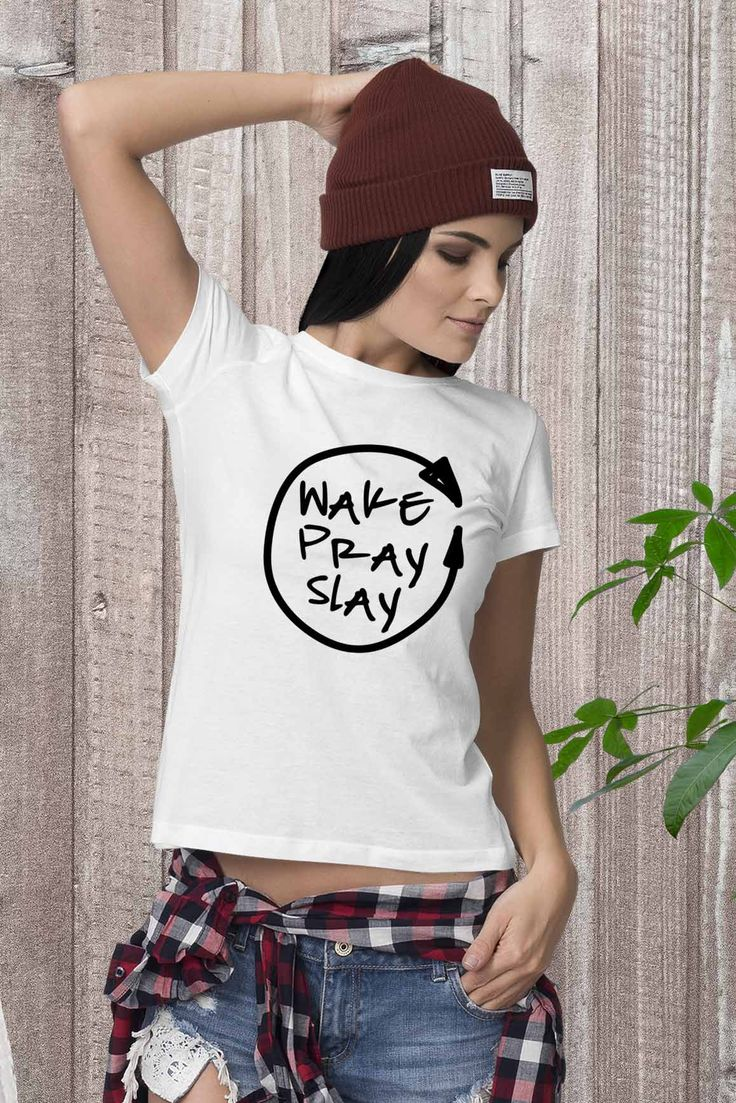 Wake Pray Slay - womens tshirt#graceupongrace #differencemaker #christiantees #agodlylady #solovelysofree #livefullyalive #gritandvirtue #calledtobecreative #bedeeplyrouted #encouragementgallery