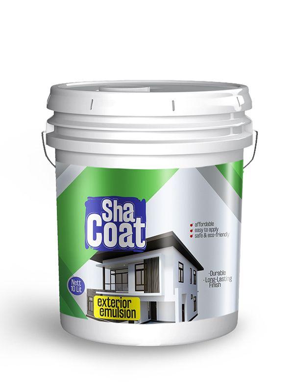 Shacoatexterior Emulsion 10ltr design by Brandz | Label