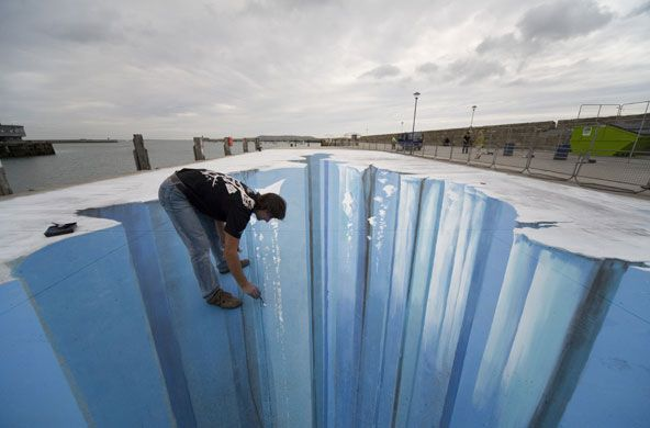 amazing: Street Art, Chalk Drawings, 3D Art, Edgar Mueller, Sidewalks Art, 3D Street, Sidewalks Chalk, Chalk Art, Streetart