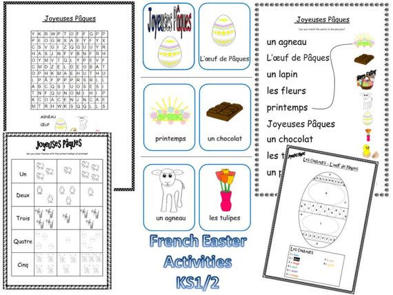 French Easter Resources KS1/2 by FrenchResourcesByJo on Etsy