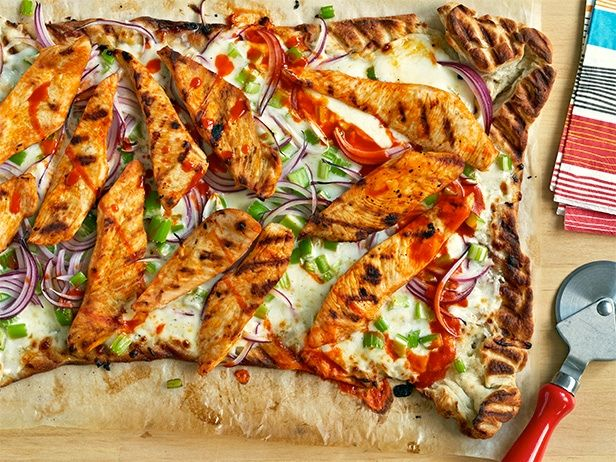 Buffalo Chicken Pizza #BigGame: Food Network, At Home, Grilled Buffalo Chicken, Chicken Pizza Recipes, Pizza Crusts, Maine Dishes, Foodnetwork Com, Buffalo Chicken Pizza, Sandra Lee