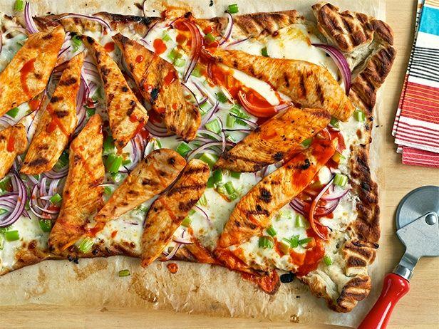 Buffalo Chicken Pizza #BigGameFood Network, Pizza Yummy, Chicken Pizza Recipe, Maine Dishes, Foodnetwork Com, Yummy Food, Sandra Lee, Buffalo Chicken Pizza, Pizza Recipes