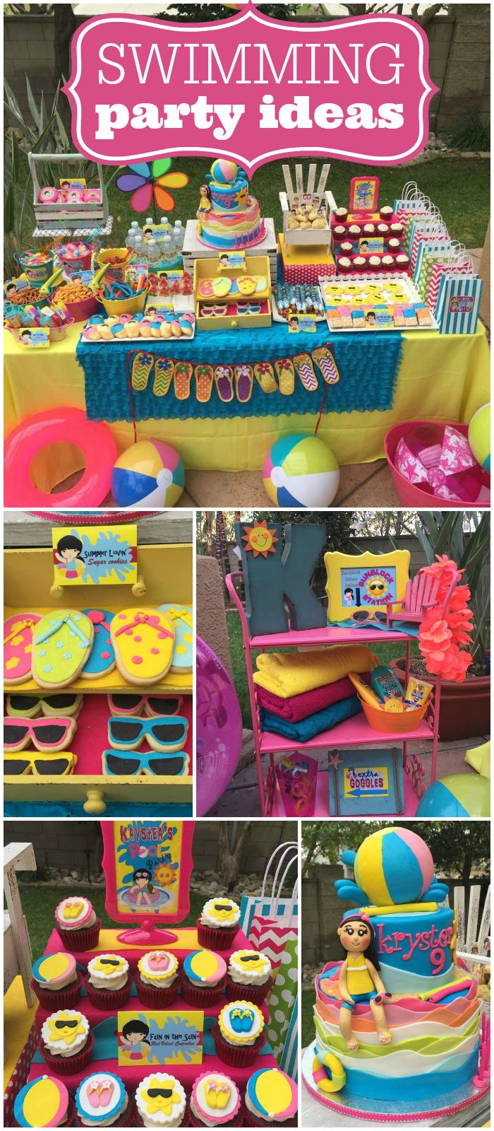 Pool Party Ideas Kids birthday parties singapore style pool party kidsbirthday Such An Amazing Cake At This Swimming Party See More Party Ideas At Catchmyparty