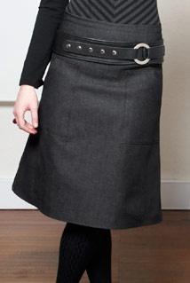 Manque librarian skirt +belt