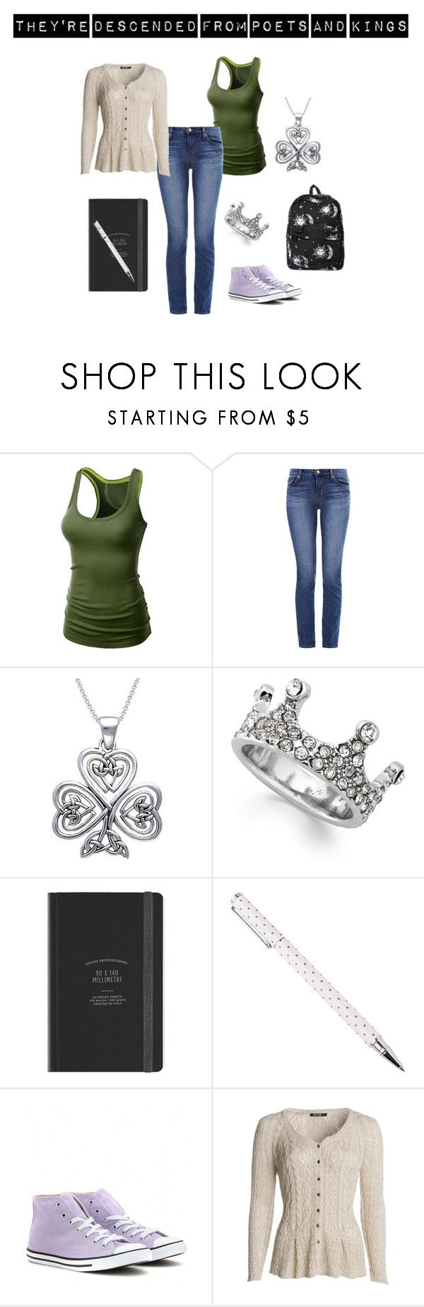 """Ireland"" by clairemjc ❤ liked on Polyvore featuring J.TOMSON, J Brand, Carolina Glamour Collection, Bar III, Converse, NIC+ZOE and Motel"