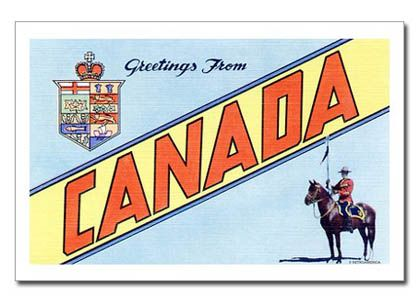Greetings From Canada Postcard - 1970