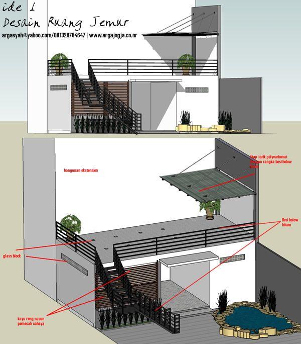 4 Ide Desain Ruang Jemur Modern Minimalis Design_plan_section_structure_construction Di 2019