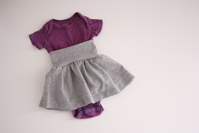 DIY: Baby skirts  I'll probably never actually do this project, but I think these are sooo cute, and such a good idea!