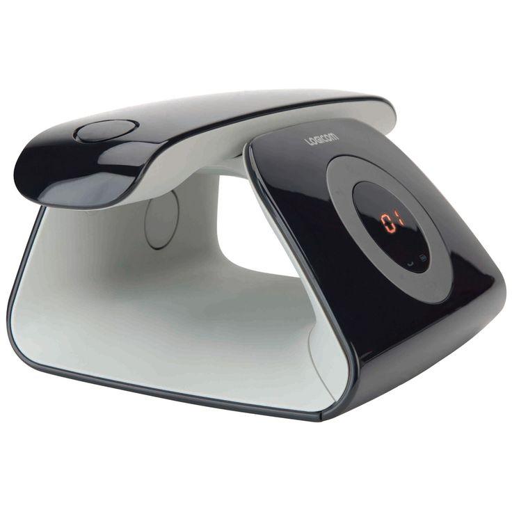 Téléphone sans fil Logicom Rétro Noir Téléphone DECT sans fil avec répondeur (version française)