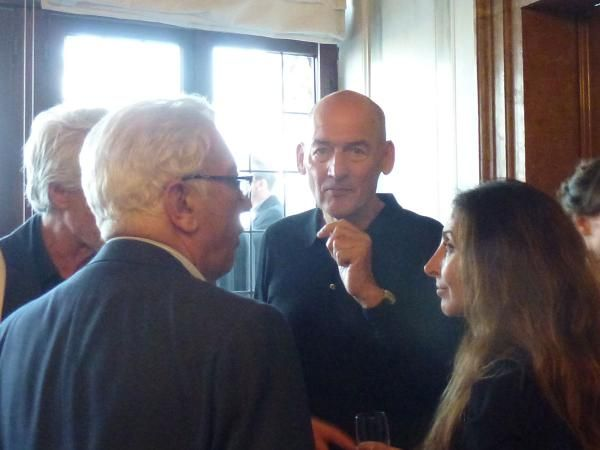June 4: Small party for press at the Biennale office near San Marco. The man of thr hour, of course, was Director Rem Koolhaas. Photo: Valentina Herrmann/World-Architects