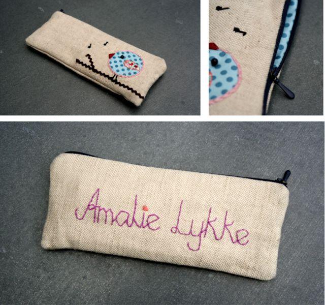 Homemade pencil case