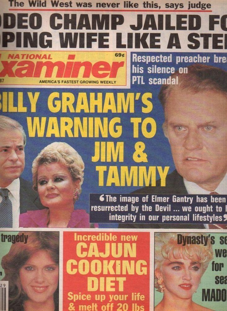 national examiner 1987 jul 21 madonna pam dawber billy graham jim  from $12.99