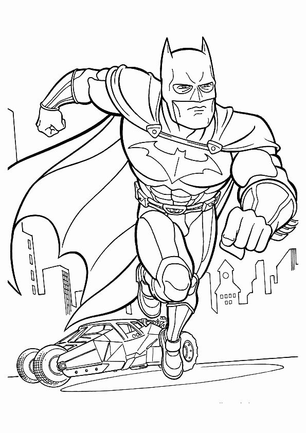 The Batman Running Coloring For Kids