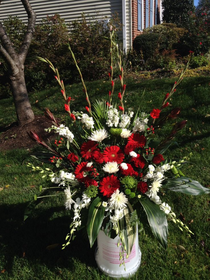 Red and white for the bride.