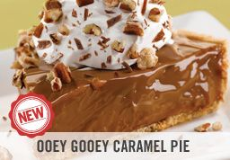 my remake of o'charleys ooey gooey caramel pie!! IT IS THE EXACT SAME AND SO CHEAP AND EASY!!! Just I can of condensed milk, I bag of wrapped caramels, I graham cracker pie crust and 1 tub of whipped cream, and 1/2 cup of chopped pecans(optional). Melt the caramels in the condensed milk in a boiler, pour in pie shell, refrigerate about 2 hours, take out and put whipped cream and pecans on top! that simple! You will NEVER make another dessert!!!